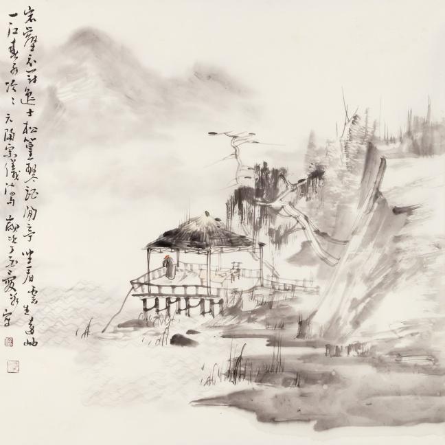 松篁琴酒闲亭 68×69cm.jpg