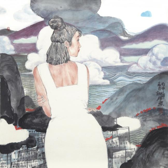 《诗与远方--眺》69X69cm.jpg
